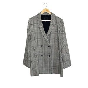 Madewell Caldwell Double Breasted Blazer Plaid